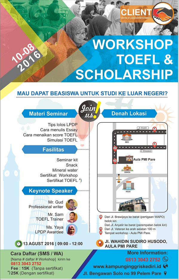 Workshop TOEFL - brosur