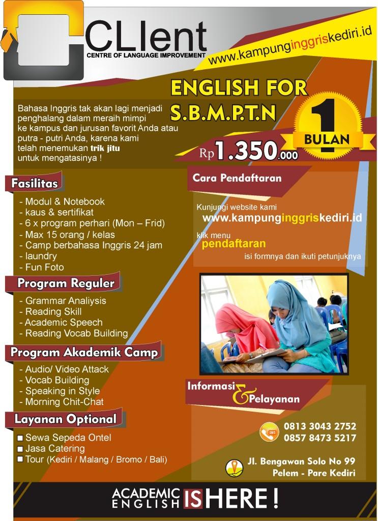 Persiapan SBMPTN Bahasa Inggris