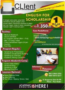 kursus bahasa inggris untuk beasiswa - paket 1 bulan