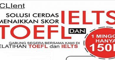 Workshop IELTS TOEFL Mudah Murah ? Mengapa Tidak